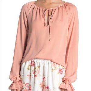 L'Academie Pink Boho Blouse Size XS